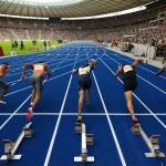 Leichtathletik ISTAF in Berlin 14.06.2009 Berliner Olympiastadion Start 110m Huerden Herren Foto: Camera4  Die Persoenlichkeitsrechte abgebildeter Personen sind vom Verwender selbst zu klaeren!