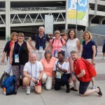 T&FT clients outside Rio stadium