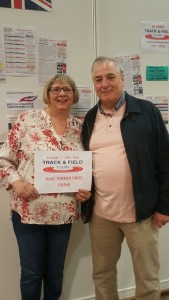 Sandra Cook - winner of our prize to the London Anniversary Games