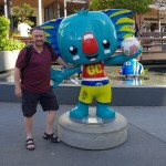 T&FT Lee with the CWG Borobi mascot