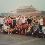 Fans in Tian'nmen Sq - Beijing 2008