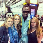 Usain meets the T&FT ladies team