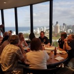 Lunch on Gold Coast in revolving restaurant