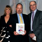 David / T&FT with 2014 Volunteer of the Year Mark Wall and Wendy Sly of England Athletics