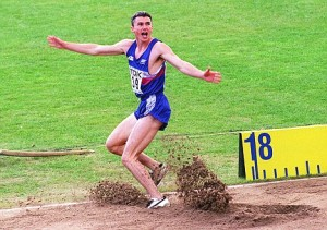 7TH AUGUST: On this day in 1995 Jonathan Edwards broke the World Triple Jump record.  Delight for Jonathan Edwards as he breaks the World Triple jump record in the World Championships in Gothenburg tonight (Monday).